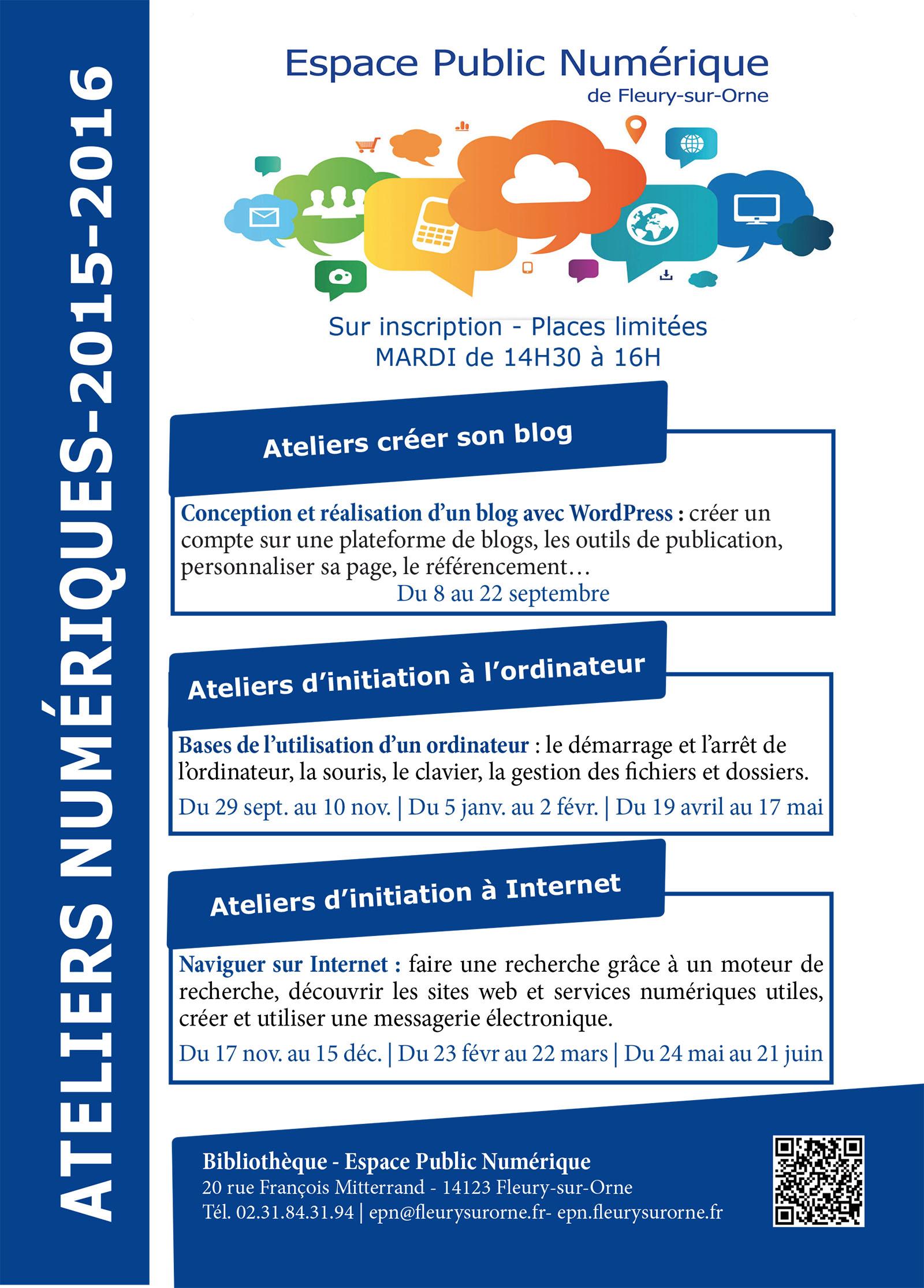 Programme ateliers numériques 2015.indd
